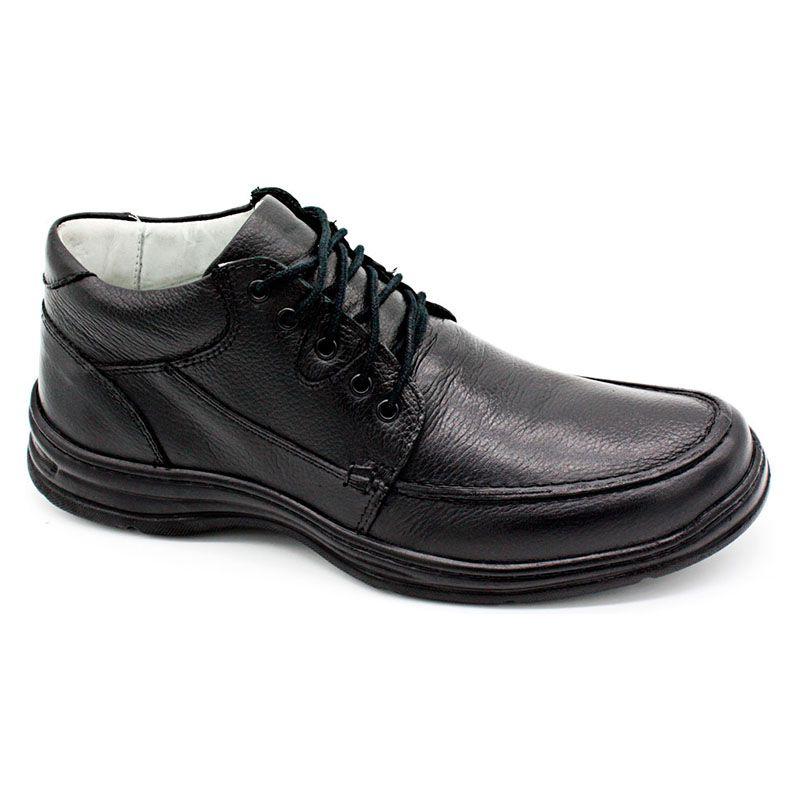 Sapato Linha Conforto Preto Masculino 2710-01