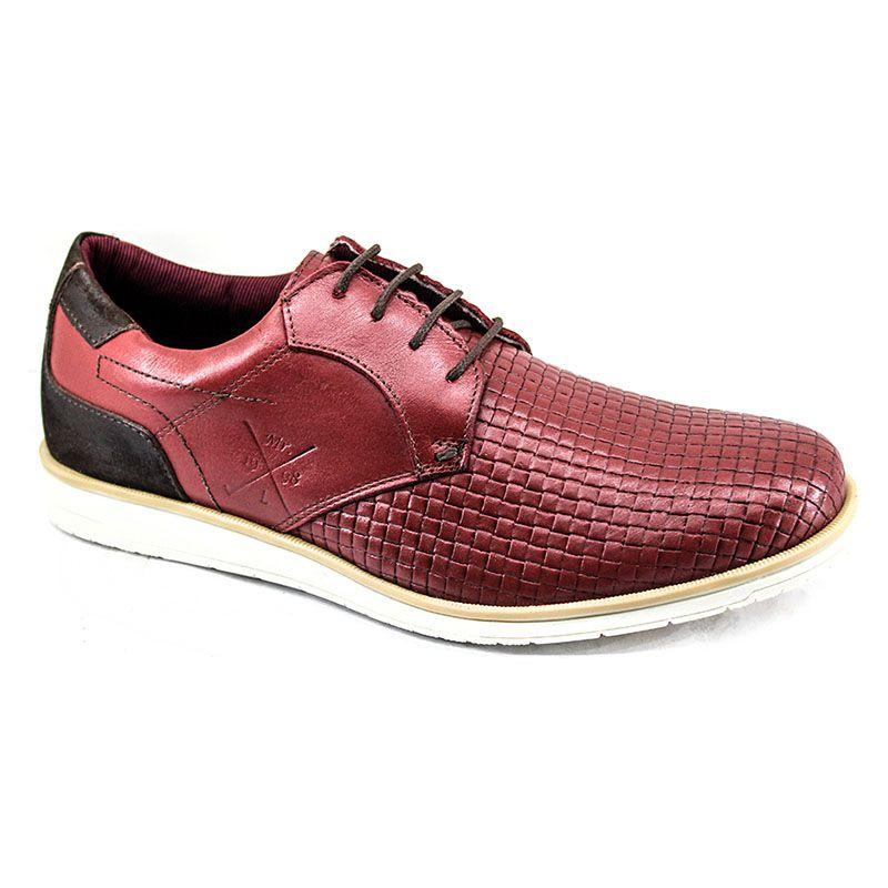Sapato Oxford Masculino Bordô 606