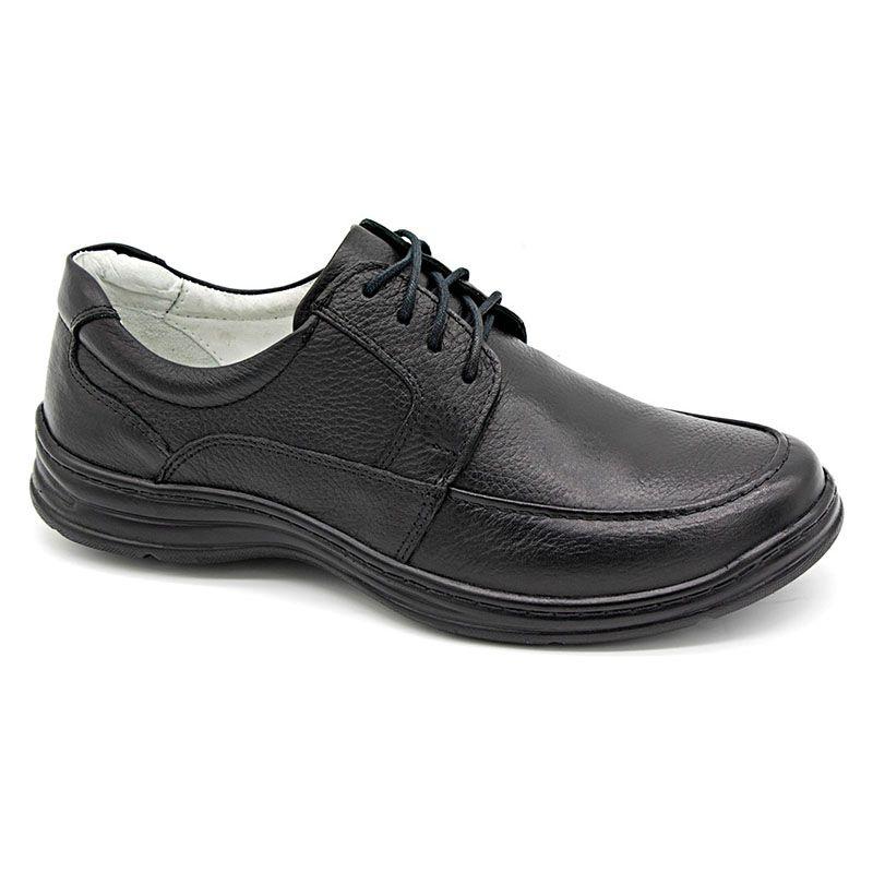 Sapato Preto Confortável Masculino Conforto 2712-01