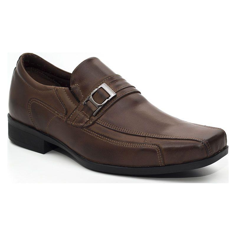 a6f4184fd7 Sapato Social Masculino Café Marrom 2035 na J Calçados