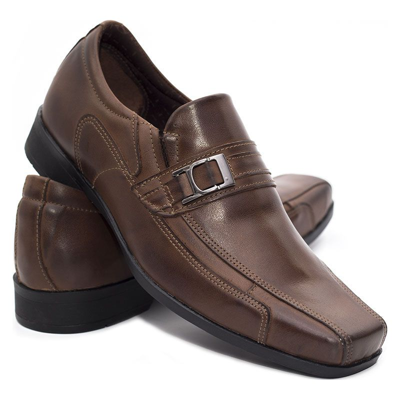 Sapato Social Masculino Café Marrom 2035