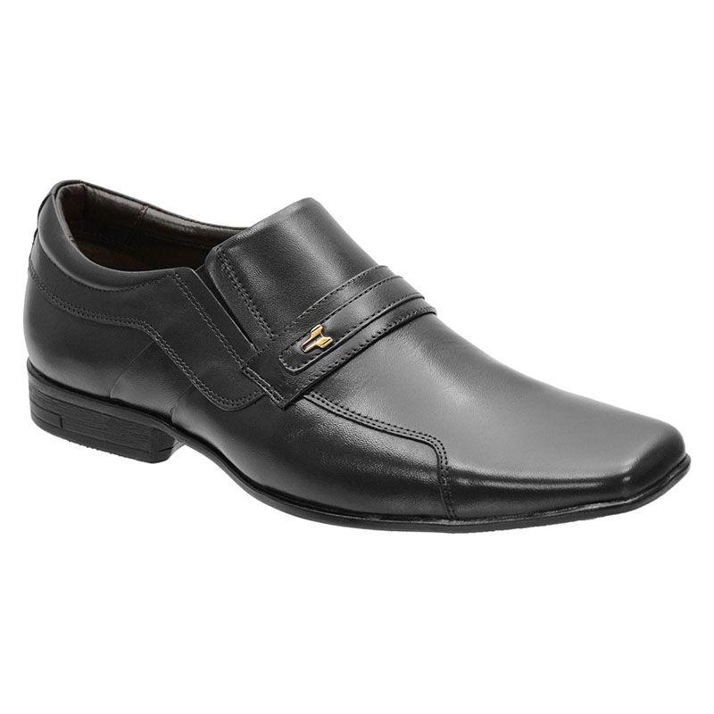 Sapato Social Preto Couro Masculino 193
