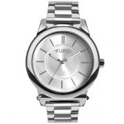 Relógio Feminino Euro EU2036YMT/3K 43mm Aço Prata
