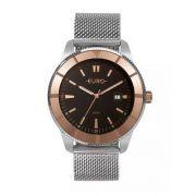 Relógio Feminino Euro EU2115AK/5P 42mm Aço Prata