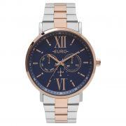 Relógio Feminino Euro Multi Glow EU6P29AHB/5A 43mm Aço Prata/Rose
