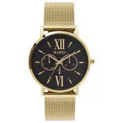Relógio Feminino Euro Multi Glow EU6P29AHC/4P 43mm Aço Dourado