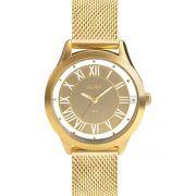 Relógio Feminino Euro Ouse Ser Você Mesma EU2039JH/4D 43mm Aço Dourado