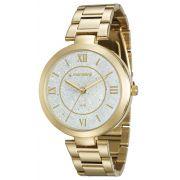 Relógio Feminino Mondaine 76615LPMVDE1 42mm Pulseira Aço Dourado
