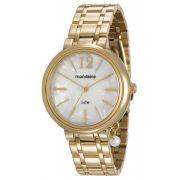 Relógio Feminino Mondaine 76703LPMVDE1 40mm Pulseira Aço Dourada