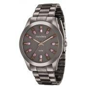 Relógio Feminino Mondaine 78663LPMVMA6 43mm Aço Marrom