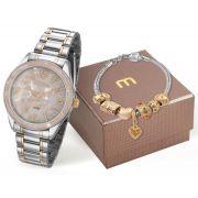 Relógio Feminino Mondaine 99277LPMKBE4K1 40mm Aço Bicolor Dourado/Prata
