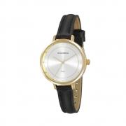 Relógio Feminino Mondaine Cristais 32175LPMVDH2 36mm Sintético Preto