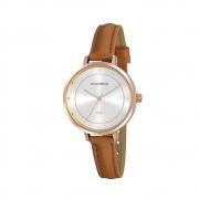 Relógio Feminino Mondaine Cristais 32175LPMVRH3 36mm Sintético Marrom