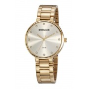Relógio Feminino Seculus 23688LPSVDS2 40mm Aço Dourado