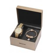 Relógio Feminino Seculus 77068LPSKDS2K1 38mm Aço Dourado + Pulseira Dourada
