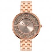 Relógio Feminino Technos Elegance Crystal 2025LTR/1C 38mm Aço Rosé