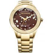 b28e1b2384d Relógio Feminino Technos Elegance Crystal 2039ATDTM 4M 41mm Aço Dourado
