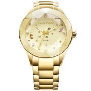 Relógio Feminino Technos Elegance Crystal 2039ATDTM/4X 41mm Aço Dourado