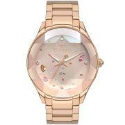 Relógio Feminino Technos Elegance Crystal 2039CA/4T 41mm Aço Rose