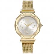 Relógio Feminino Technos Elegance Crystal 2039DD/1K 38mm Aço Dourado