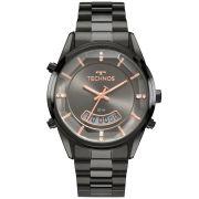 Relógio Feminino Technos Fashion Anadigi T200AK/4C 40mm Aço Preto