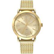 Relógio Feminino Technos Fashion Style 2036MMC/4X 38mm Aço Dourado