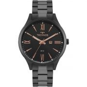 Relógio Feminino Technos Fashion Trend 2015CCQ/4P 41mm Aço Preto