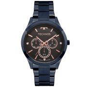 Relógio Feminino Technos Trend 6P29AJJ/4P 40mm Aço Azul