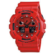 Relógio Masculino Casio G-Shock GA-100C-4ADRU 49mm Vermelho