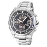 Relógio Masculino Citizen Eco-Drive TZ20377F 43mm Aço Inoxidável Prata