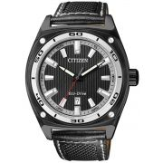 Relógio Masculino Citizen Eco-Drive TZ30311J 42mm Couro Preto