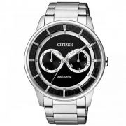 47e17907af5 citizen relogio masculino citizen tz30660t 43mm aco inoxidavel prata ...