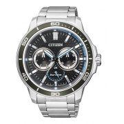 Relógio Masculino Citizen Eco-Drive TZ30857T 46mm Aço Inoxidável Prata