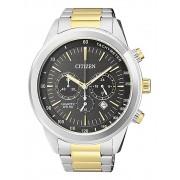 Relógio Masculino Citizen TZ30973C 46mm Aço Bicolor Prata/Dourado