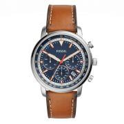 Relógio Masculino Fossil FS5414/0MN 44mm Couro Marrom
