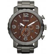 Relógio Masculino Fossil Nate Chronograph FJR1355/Z  Fumê