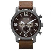 Relógio Masculino Fossil Nate Chronograph FJR1424/Z Couro