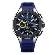 Relógio Masculino Megir MN2053GBE-2N13 46mm Silicone Azul