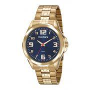 Relógio Masculino Mondaine 83462GPMVDE2 48mm Aço Dourado
