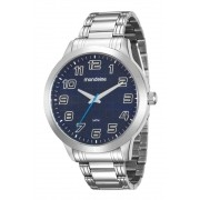 Relógio Masculino Mondaine 99143G0MVNE2 48mm Aço Prata