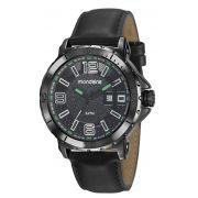 Relógio Masculino Mondaine 99357GPMVPH1 48mm Couro Preto