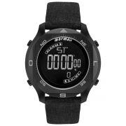 Relógio Masculino Mormaii Acqua Pro MO11273D/2P 51mm Couro Ecológico Cinza