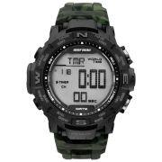 Relógio Masculino Mormaii Action MO1173C/8V 45mm Borracha Camuflado Verde Militar