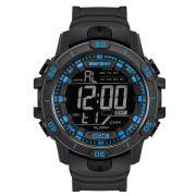 Relógio Masculino Mormaii Action MO3690AB/8A 52mm Borracha Preta