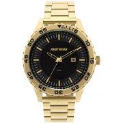 Relógio Masculino Mormaii MO2115AZ4P Pulseira Aço Dourada
