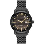 Relógio Masculino Mormaii MO2115BF/4M 44mm Aço Preto
