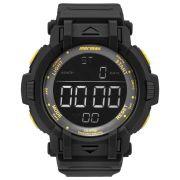 Relógio Masculino Mormaii MOM08111C/8Y 56mm Digital Borracha Preto (Detalhe Amarelo)