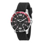 Relógio Masculino Seculus 28932G0SVNI1 48mm Silicone Preto