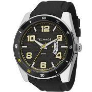 Relógio Masculino Technos 2115KSR/8Y 46mm Silicone Preto
