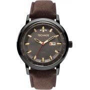 Relógio Masculino Technos 2115LAQ/2C 46mm Couro Marrom